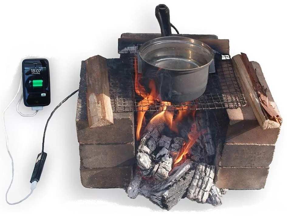 термоэлектрогенератор от костра